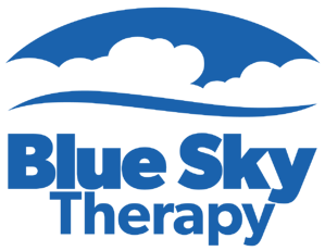 Blue Sky with Therapy Logo - Blue - PNG